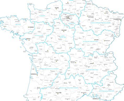 Carte De Region Et Departement Et Chef Lieu by Cartes