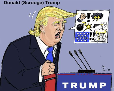 donald scrooge trump  markusszy politics cartoon