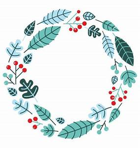 Christmas retro holiday wreath isolated on white vector ...