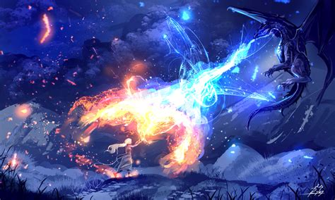 fire and ice by ryky on deviantart