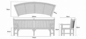 Connaught Teak Curved Garden Bench | Teak Park Bench - 2.2m