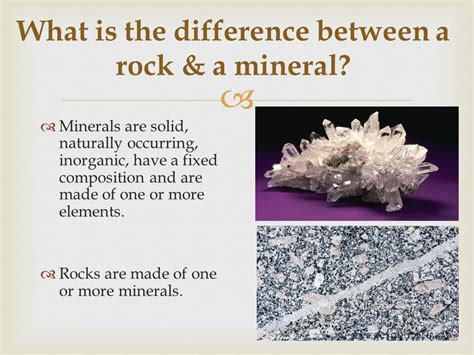 what is the difference between a and a sofa rocks and the rock cycle ppt