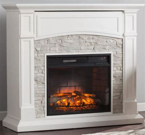 stacked electric fireplace electric fireplaces insteading