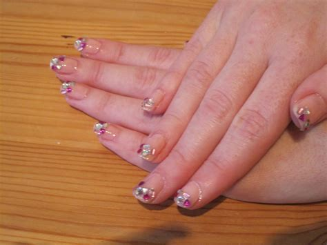 kawaii pink super glitter sparkle manicure   paint