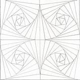 Optical Illusion Coloring Illusions Pages Printable Op Tunnel Drawing Step Patterns Colouring Mosaic Zentangle Geometric Eye Drawings Sheets Funny Fun sketch template