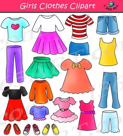 Clip Clothes Clothes Clipart Set Dress Up Clip School Clipart