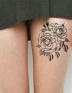 Tatouage De Femme : tatouage cuisse rose 15 tatouages sur la cuisse qui nous ~ Melissatoandfro.com Idées de Décoration