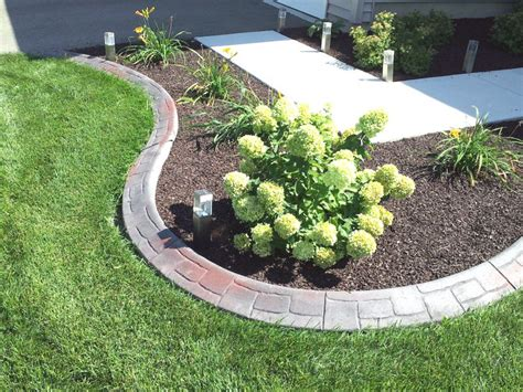 concrete lawn edging landscape edging amazon dimex easyflex plastic no dig landscape edging kit feet c patio lawn