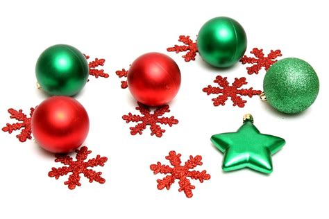 ornaments  stock photo red  green christmas