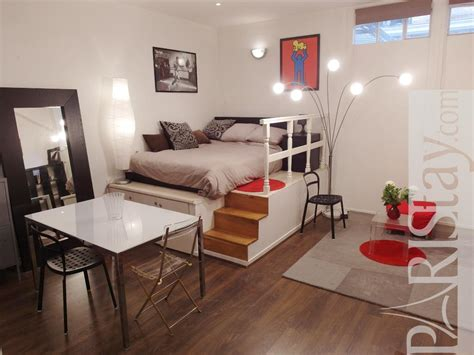 Long Living Room Layout by Paris Victor Hugo Large Studio Apartment For Rent Etoile