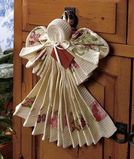 kitchen angel  towel dishcloth  hot pad  folded
