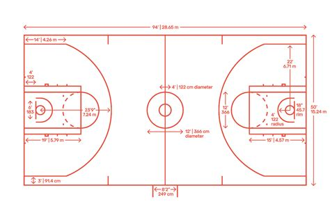 basketball court dimensions drawings dimensionsguide
