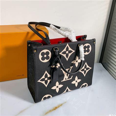 louis vuitton onthego mm monogram empreinte leather black