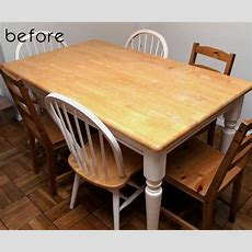 Before & After Jamie + Brad's Kitchen Tables  Design*sponge