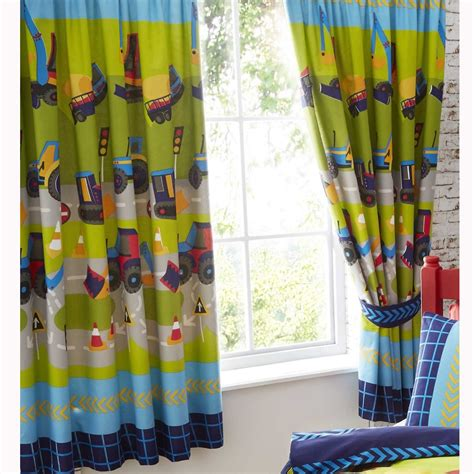 "Boys Bedroom Curtains 66"" X 72"" In Various Designs Fully"