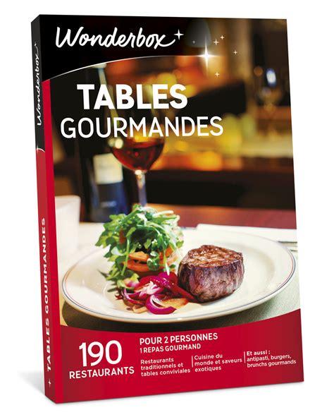 Coffret Cadeau  Tables Gourmandes  Wonderbox Coffrets