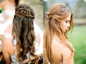 coiffure mariage boheme chic mariage nature et si on optait pour une coiffure bohème coiffures updo and mariage