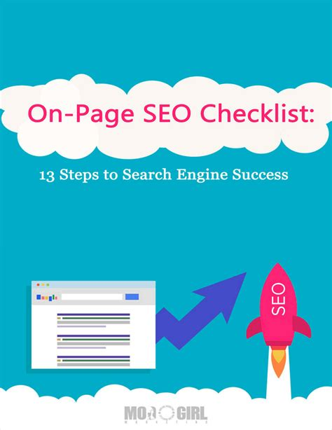 Seo Steps by On Page Seo Checklist 13 Steps To Search Engine Success Ebook