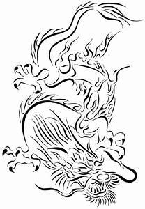 Tribal Chinese Dragon by Tina Barnash