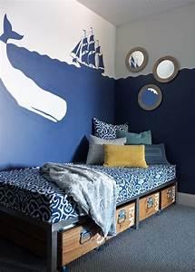 Gestaltungsideen Schlafzimmer Wände : kinderzimmerwande gestalten ideen jungs schiff wal silhouetten da wo du zu hause bist ~ Markanthonyermac.com Haus und Dekorationen