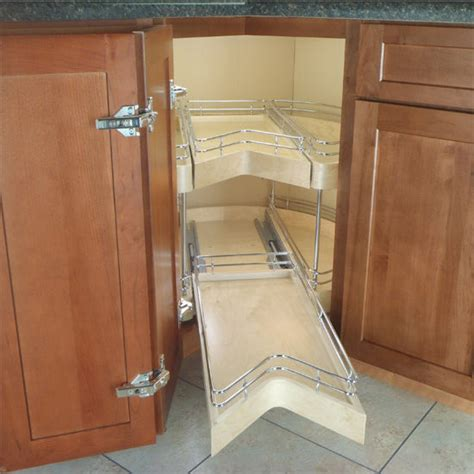 easy access corner pantry featuring  degree double