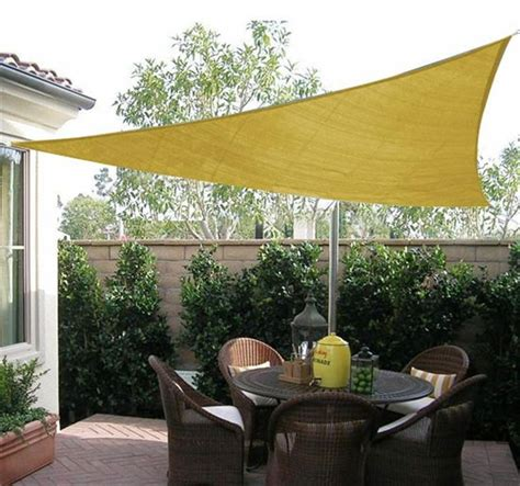 triangle sun shade sail canopy sand patio shade