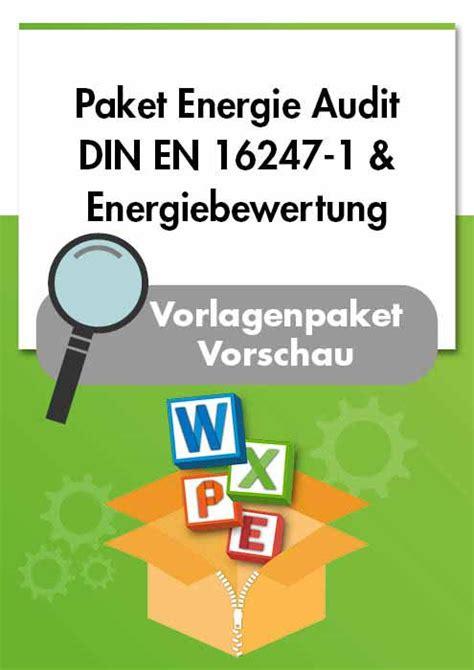 energieaudit din en   energiebewertung en