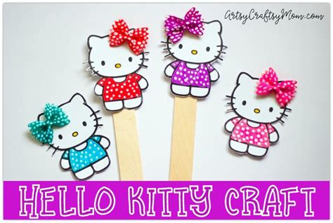 super cute  kitty craft bookmark  pasta