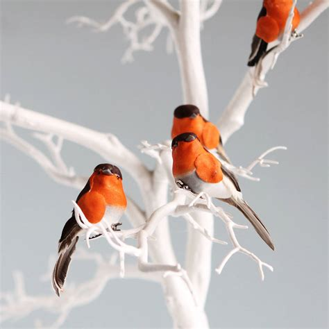 christmas robin decorations by postbox party