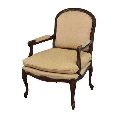 Accent Chairs by 75 Gold Floral Jacquard Upholstered Studded Accent