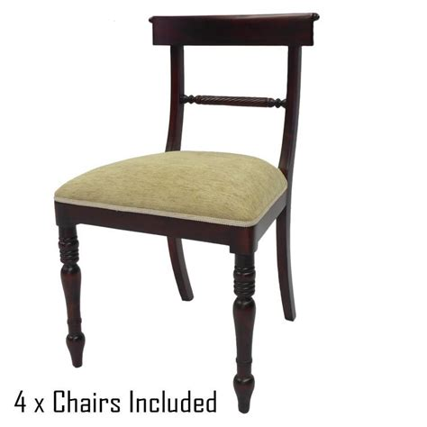 solid mahogany wood dining set table 1 5m and chairs