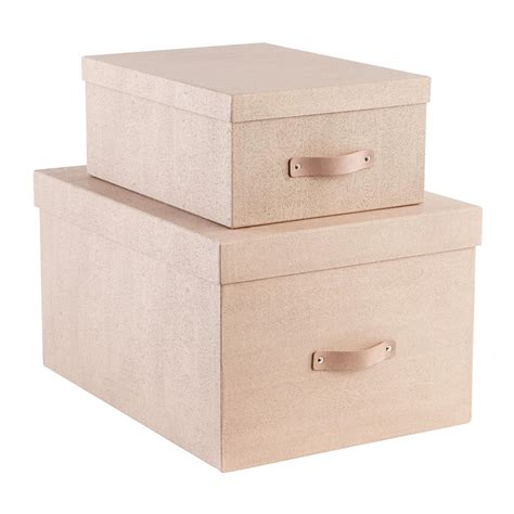 Bigso Oak Woodgrain Storage Boxes  The Container Store