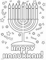 Coloring Hanukkah Printable Happy Menorah Sheets Preschool Hannukah Seasonal Crafts Holiday Holidays Colouring Dreidel Colour Chanukah Cards Decorations Children Adult sketch template