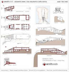 villa plan villa malaparte a drawings plan