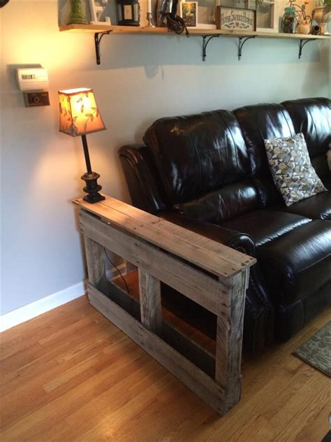 diy handmade pallet side table pallet furniture plans