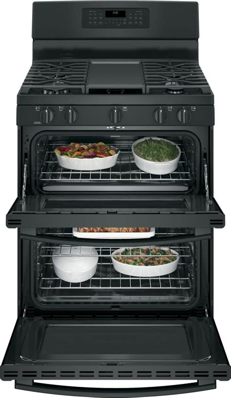 jgbdejbb ge   standing gas double oven convection range black