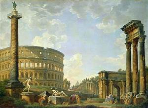 The Colosseum And Other Monuments Painting by Giovanni ...