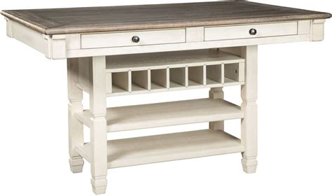 bolanburg white  gray rectangular counter height dining