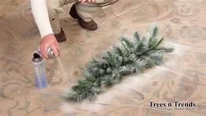 How To Flock or Snow Spray a Christmas Tree, Wreath, or