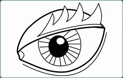 Coloring Pages Eyes Eye Eyeball Scary Printable