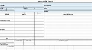kostenlose excel vorlagen fur bauprojektmanagement With arbeitsprotokoll vorlage