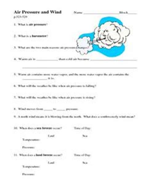 air pressure and wind worksheet air pressure and wind 8th 10th grade worksheet lesson