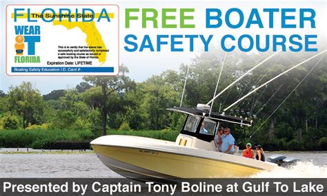 Boaters Safety by Free Florida S Boater Safety Course
