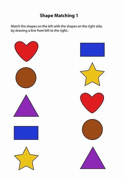 Same Worksheets Different Shapes Students Activity Esl