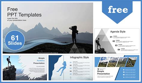 successful hiker powerpoint templates fully