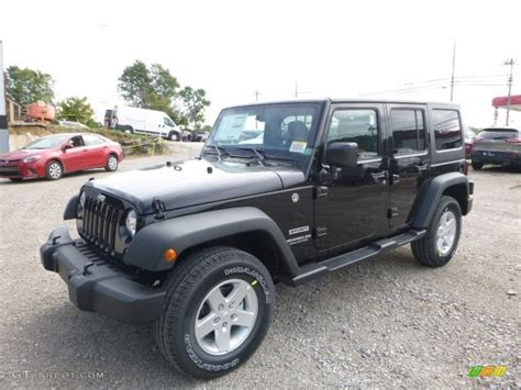 jeep black 2017 2017 black jeep wrangler unlimited sport 4x4 116222857
