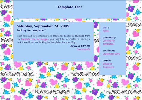 Templates 3 Columns Hola by Templates Hearts N Flowers