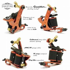 The Gambler Tattoo Machine By Inkstar Is Setup As A 10
