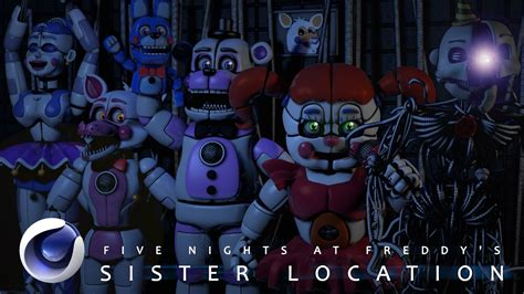 Fnaf Sister Location C4d Fnaf Sister Location Pack Download Youtube