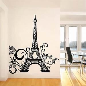 Paris eiffel tower wall sticker removable decal art